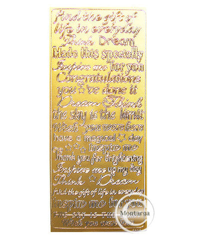 PC2807G Inspired Text Asst Text Gold