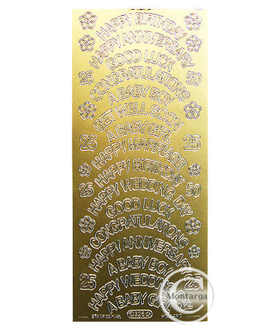 PC325G Lg Greetings Asst Text Gold