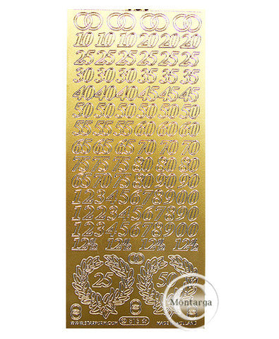 PC813G Anniversary Numbers Gold