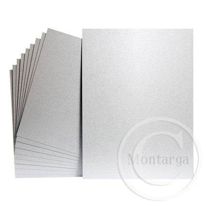 Shimmer Silver Greeting Card