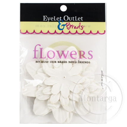 Paper Flowers - White - Mixed sizes