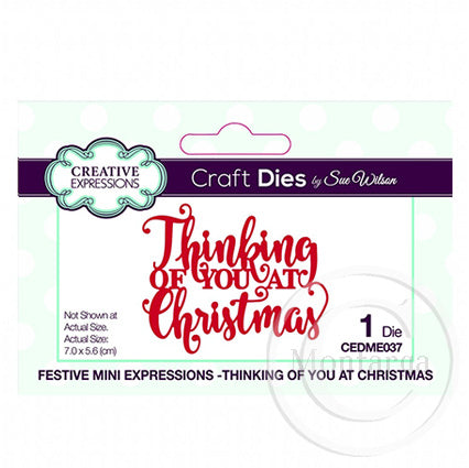 Festive Mini Expressions - Thinking of you at Christmas CEDME037