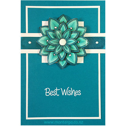 Layered Flower - Teal