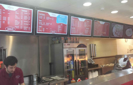 How to choose the right screen for your digital menu board