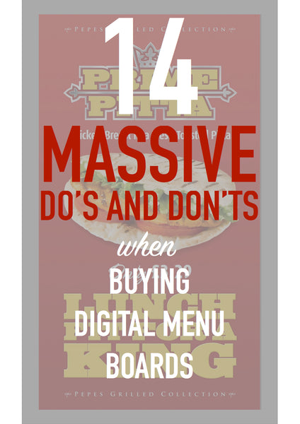 Front cover of 14 do's and don'ts when buying digital menu boards