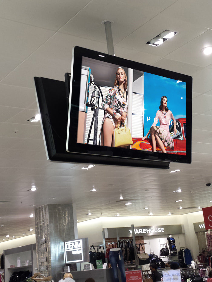 "ceiling suspended back to back 42"" all-in-one network LED Digital Screen"