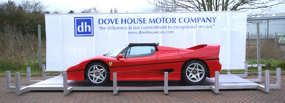 Ferrari F50 on a car display plinth