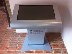 "Picture of a 32"" free standing multi touch kiosk"