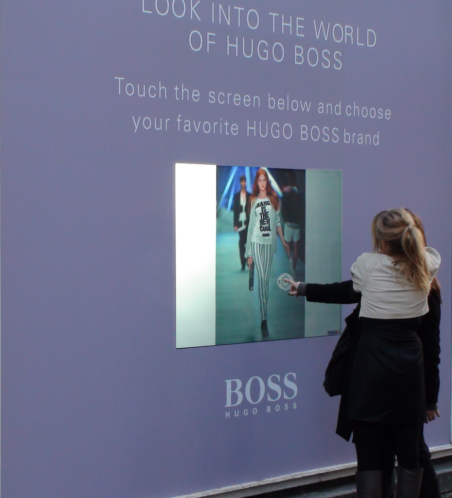 Interactive touch window display
