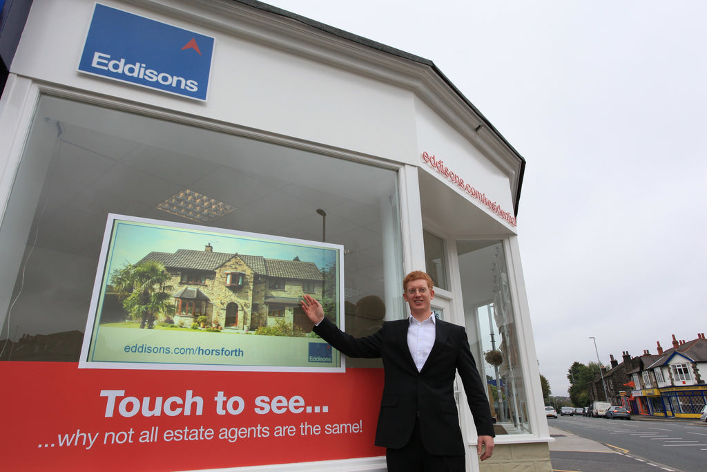 Estate agent interactive touch window display