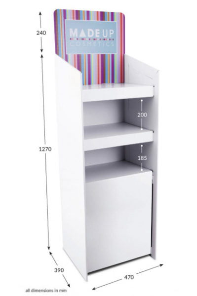3 Shelf Corr-A-Clip FSDU with Printed Header