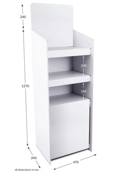 3 Shelf FSDU Unprinted