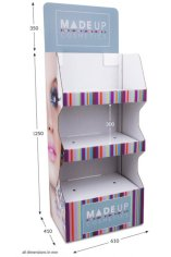 3 shelf Wide Pop-up FSDU Fully Printed