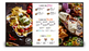 "50"" Digital menu board front view in landscape"
