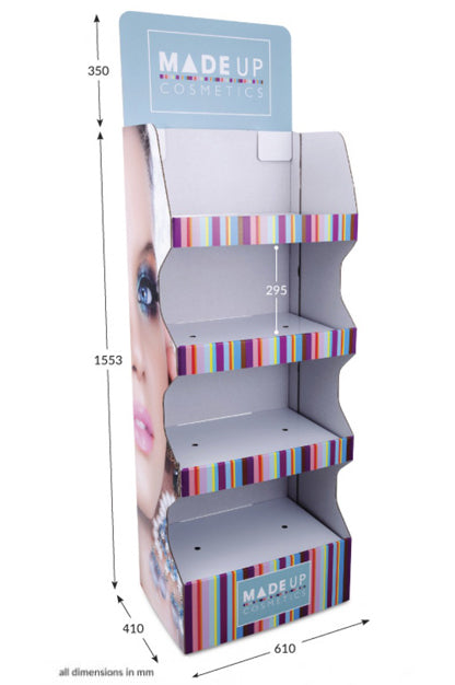 4 Shelf Wide Pop-up FSDU Fully Printed