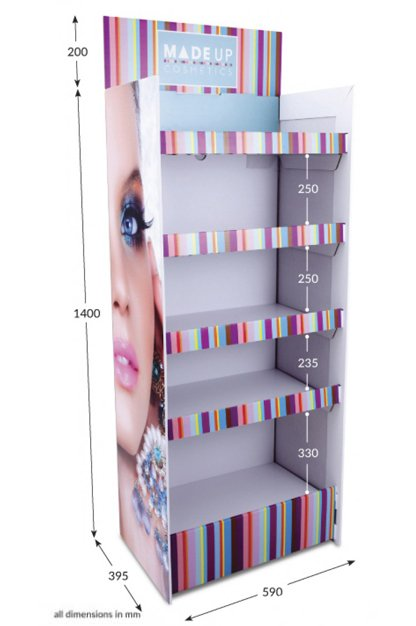 5 shelf Corr-A-Clip FSDU Fully Printed