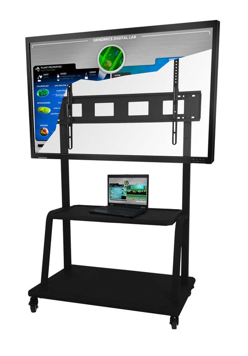 Floor Trolley with Interactive touchscreen and AV shelf