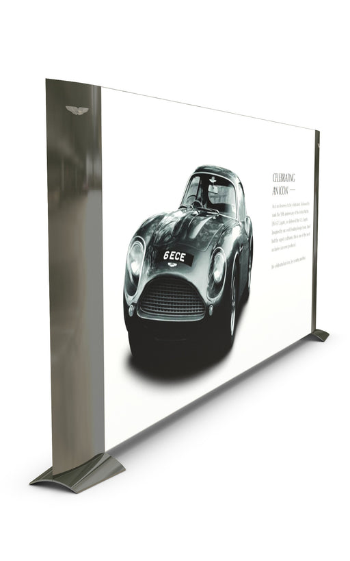 showroom divider, tensile graphic