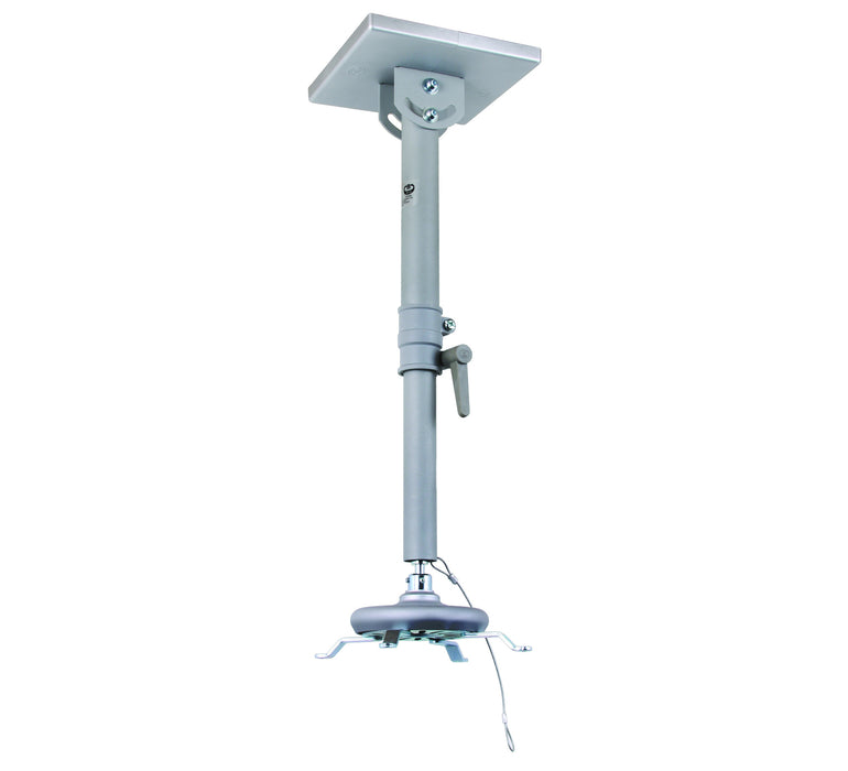 Universal projector ceiling mount shown with min 580mm drop