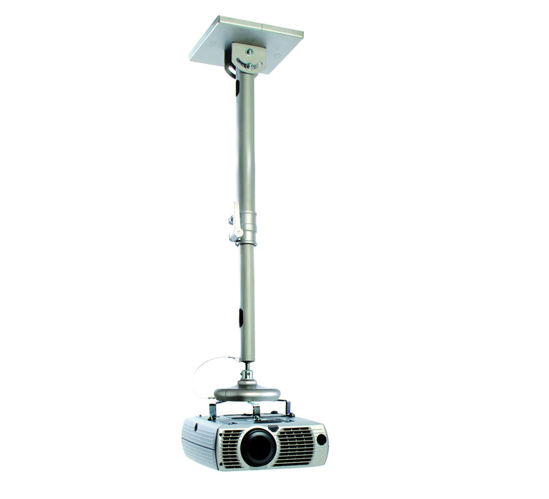 Universal projector ceiling mount shown with projector