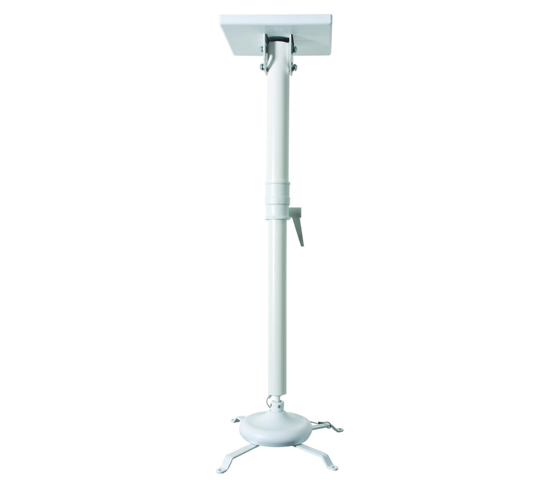 Universal projector ceiling mount shown with max 830mm drop