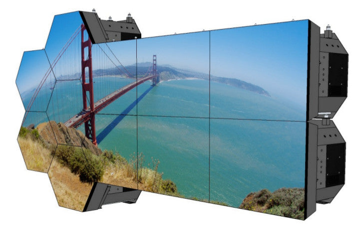 Picture of shaped rear projection module wall