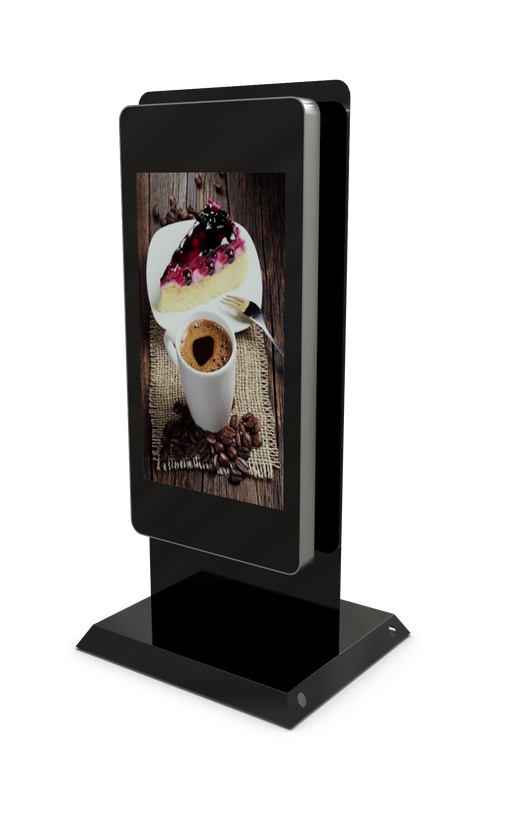 "Mobile outdoor 47"" Digital Advertising Display front three quarter view"