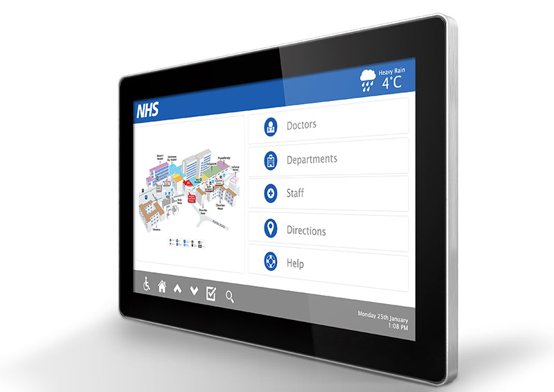 PCAP wall mounted Touch screen with dual OS