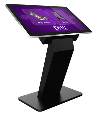 "Three quarter front view 43"" Dual OS PCAP Touch Screen Kiosk"