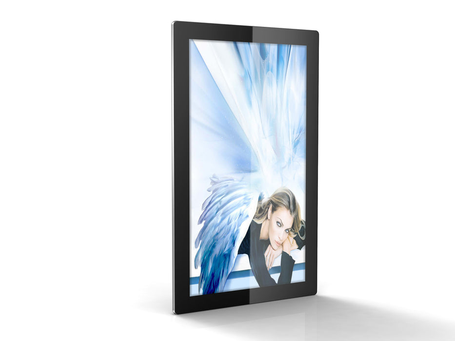 "55"" LED Digital Advertising Display in portrait perspective"