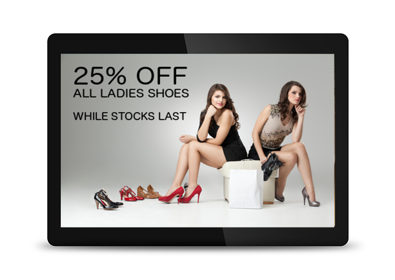 "15"" POS Digital Advertising Display"