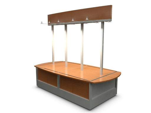 Front three quarter view of Retail merchandise Unit