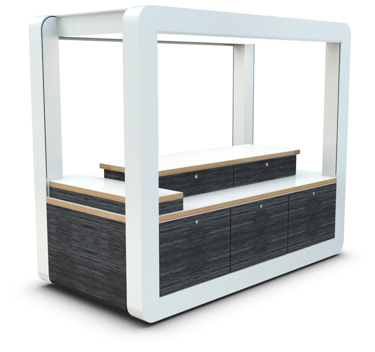 Secure Retail Merchandise Unit View 1 without shelving system