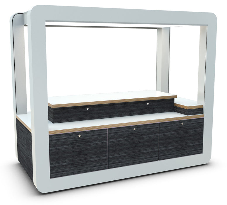 Secure Retail Merchandise Unit View 2 without shelving system
