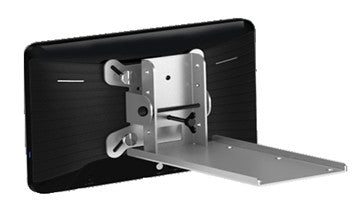 "Rear three quarter view of 7"" android tablet with plate mount"
