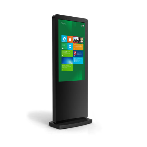 "50"" Free-standing Multi Touch Screen Totem front three quarter perspective"
