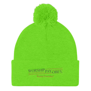 Worship Pay Obey - Knit Beanie