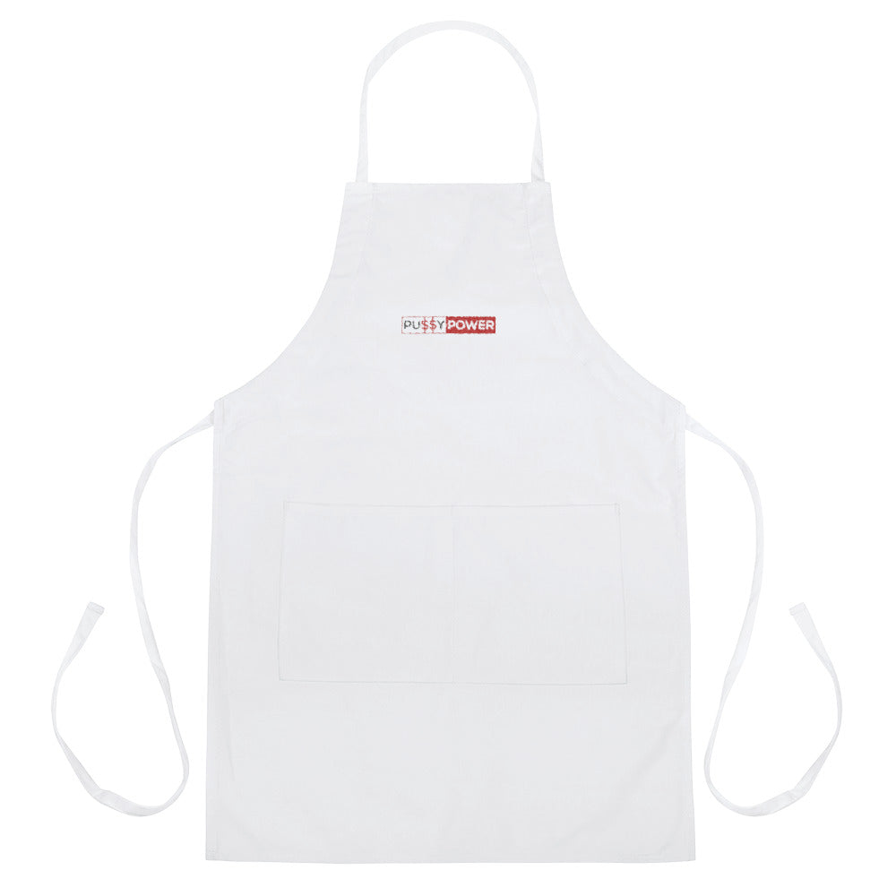 Pussy Power - Embroidered Apron