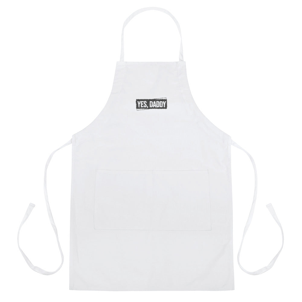 Yes, Daddy - Embroidered Apron