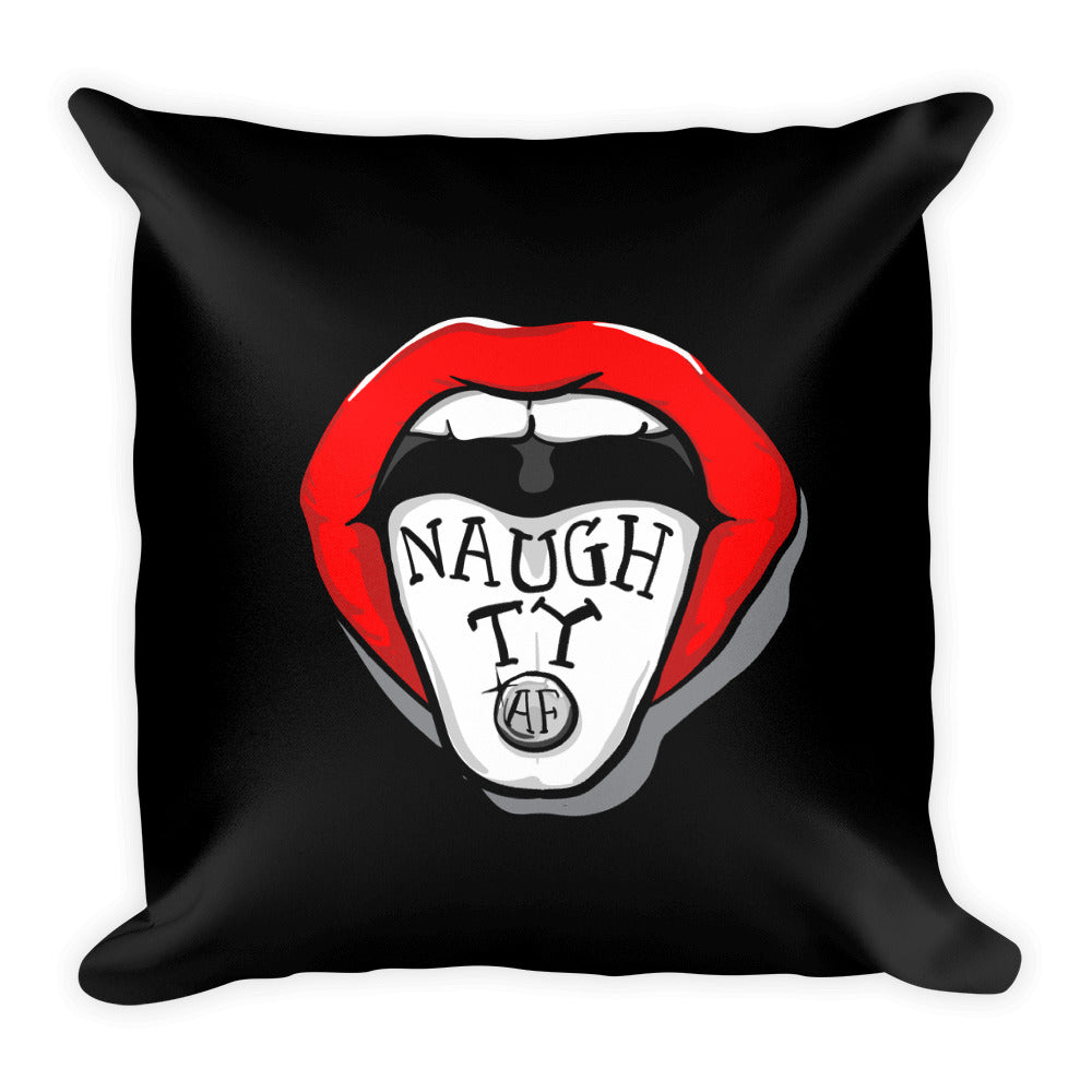 Naughty AF - Throw Pillow