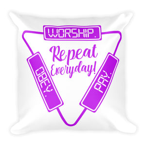 Worship Pay Obey - Throw Pillow