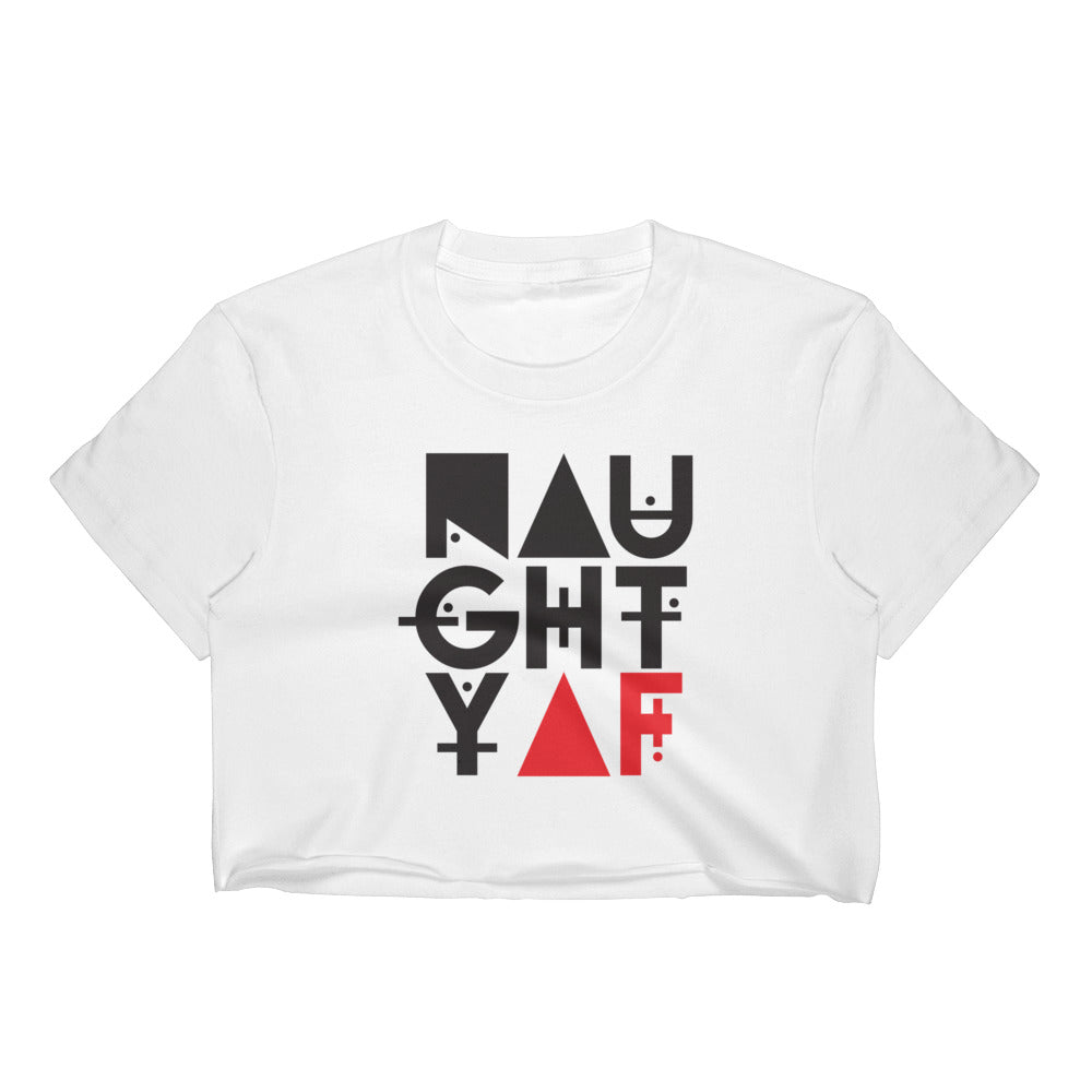 Naughty AF - Women's Crop Top