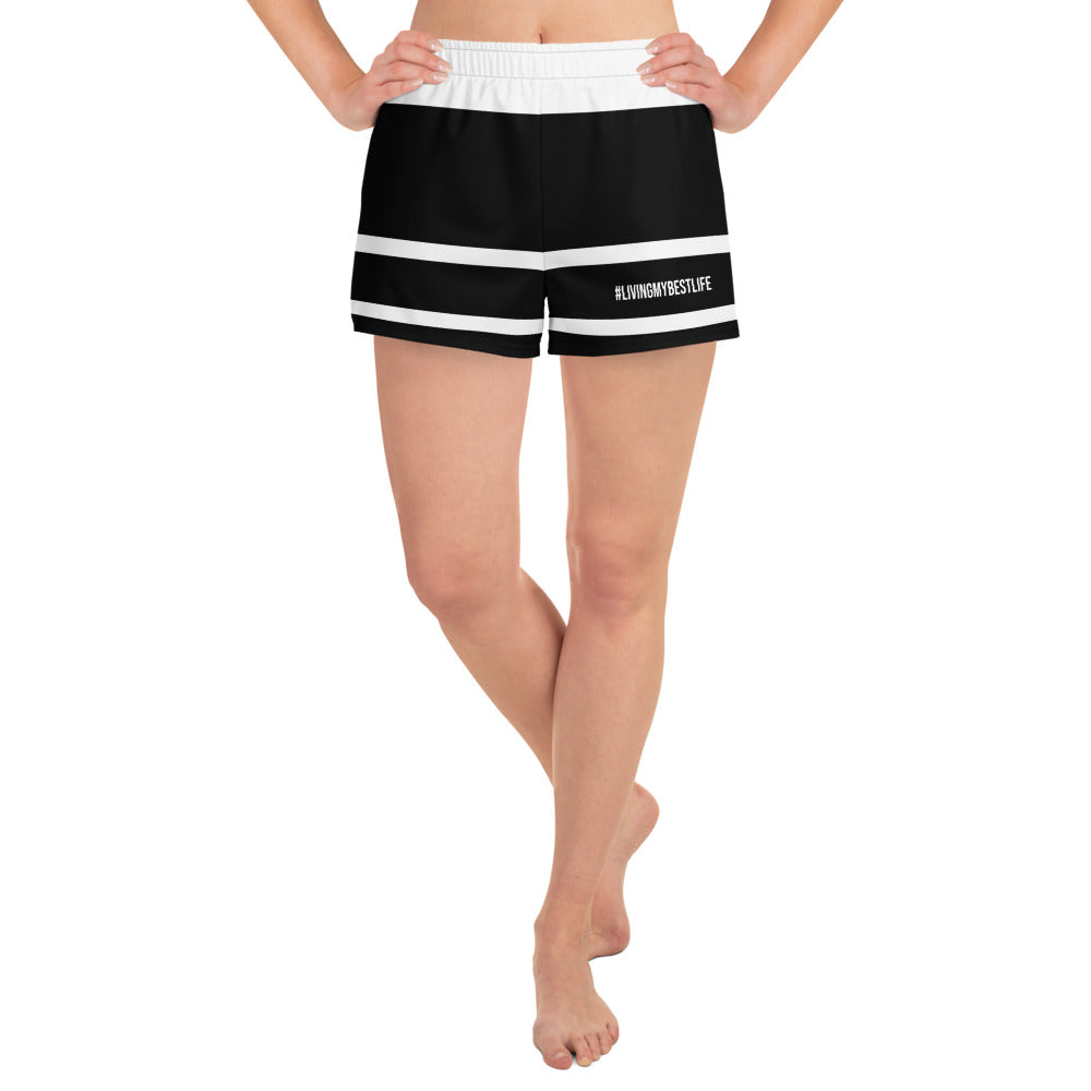 #LIVINGMYBESTLIFE - Women's Athletic Shorts