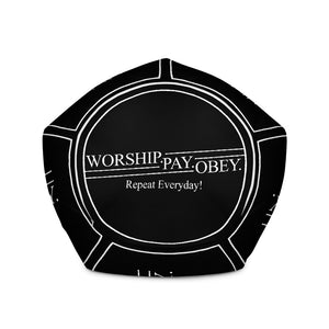 Worship Pay Obey - Bean Bag Chair w/ filling