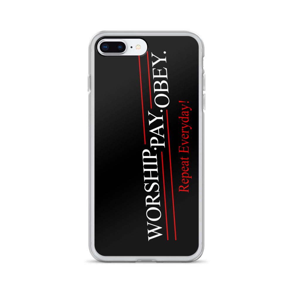 Worship Pay Obey - iPhone Case