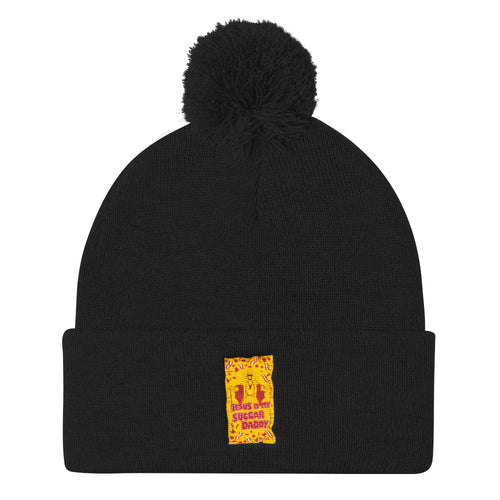 Jesus Is My Sugar Daddy - Pom Pom Knit Cap