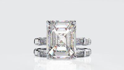 Wiley Hart Stylish Women's Emerald Cut Sapphire Ring Engagement Ring