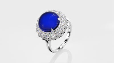 Wiley Hart Women's Sapphire Ring Designer Cocktail Ring White Gold or Sterling Silver