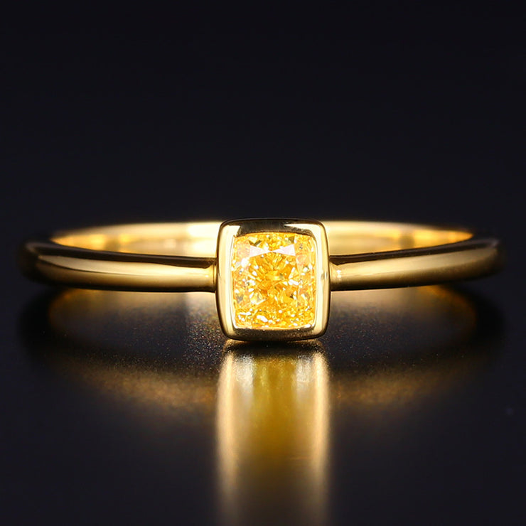 Wiley Hart Princess Cut Simply Elegant Yellow Sapphire Ring Women's Ring Gold or Silver