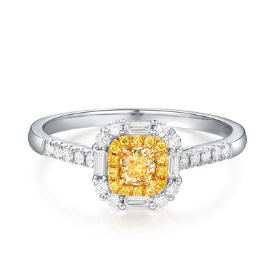 Wiley Hart Designer Princess Cut Yellow Sapphire Ring Engagement Ring Women's Ring Gold or Silver